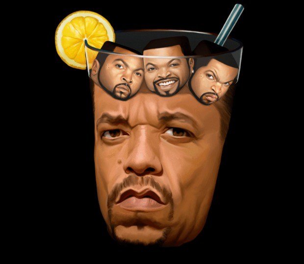 Ice Cube in Ice-T T-Shirt