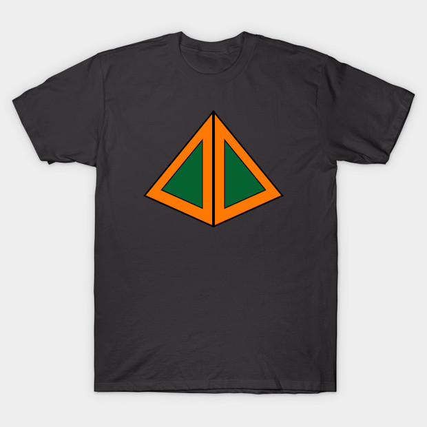 David's Legion 3D Triangle Shirt Orange and Green