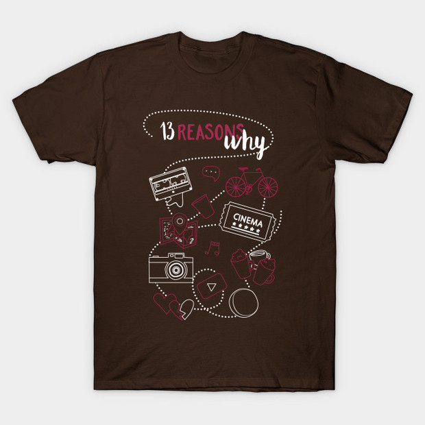 13 Reasons Why TV Show Collage T-Shirt