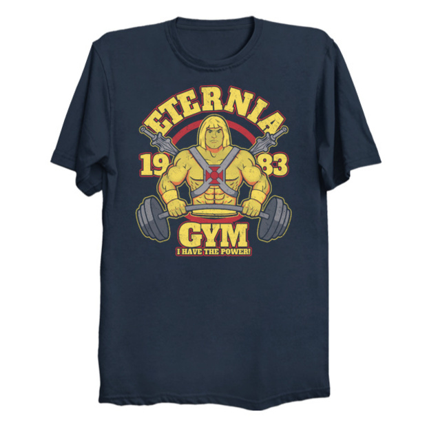 He-Man Eternia Gym T-Shirt - He-Man Workout Shirt