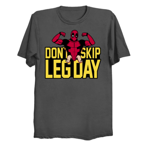Deadpool Baby Legs T-Shirt - Don't Skip Leg Day