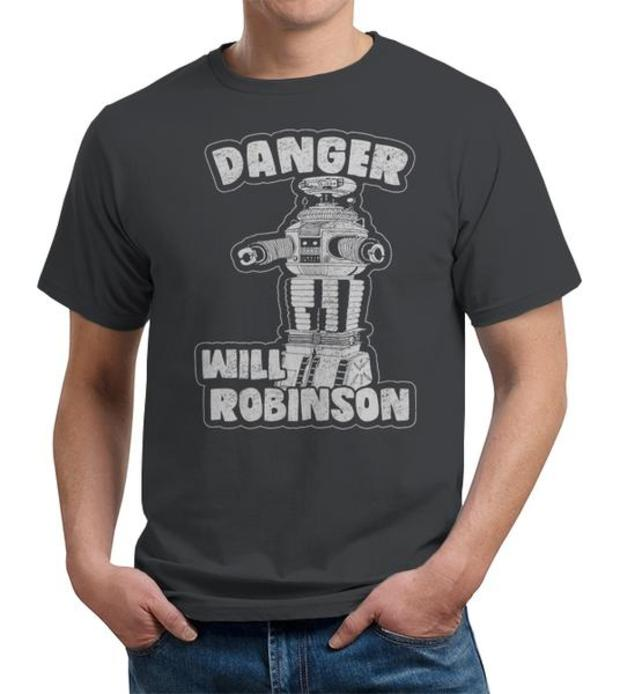 Danger Will Robinson Lost in Space Robot T-Shirt