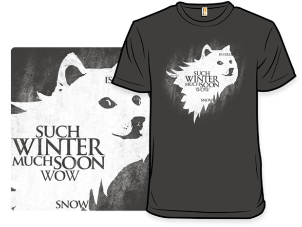 Game of Thrones Such Winter Much Wow Doge Direwolf T-Shirt