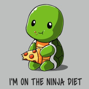 Teenage Mutant Ninja Turtles I'm on the Ninja Diet Pizza T-Shirt